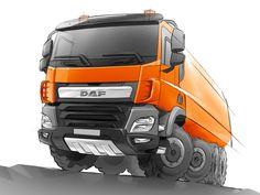 DAF CF Construction Truck - Design Sketch