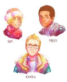 TRES BIEN, drew my fave characters from until dawn :3