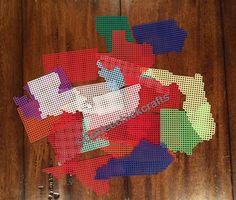 Plastic Canvas US states https://www.etsy.com/listing/385245374/united-states-plastic-canvas-shapes