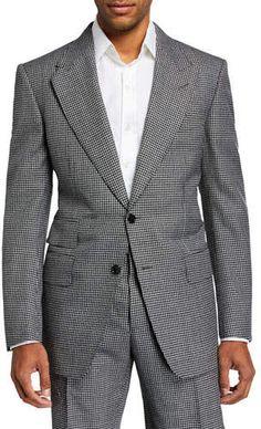 Tom Ford Men's Windsor Peak Gingham Wool Two-Piece Suit Tom Ford Jacket, Suit Jacket, Neiman Marcus Store, Suits 5, Tom Ford Men, Two Pieces, Gingham, Toms, Women Wear