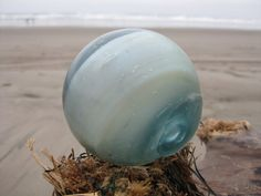 Found this beauty on a remote Alaskan beach!  :)  #glassfloatjunkie, #etsy