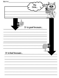 Freebie!  Common Core Opinion Writing Paper    Hello Everyone--The first slide describes how this paper could be used.  I have also included a teacher model--just add your own art work and g...