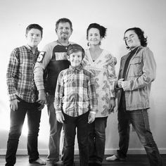 This is us... ...at the tail end of 2016.  #photo #portrait #blackandwhite #family #sons #boys #cool #plaid #testosterone #2016 #Friday