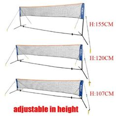 Amazon.com : SoBuy Height Adujstable Badminton Net, Tennis Volleyball Net with…