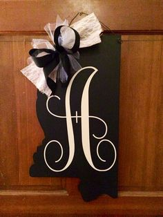 Mention you saw this on Pinterest and receive Free Shipping Monogram Mississippi Door Hanger, State Door Hanger, MSU Door Hanger, Ole Miss Door Hanger