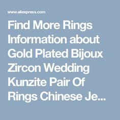Find More Rings Information about Gold Plated Bijoux Zircon Wedding Kunzite Pair Of Rings Chinese Jewelry Anelli Donna Uomo Bague Femme Mariage Berloque KR005,High Quality ring purse,China ring fashion Suppliers, Cheap ring findings jewelry making from Almei Jewelry Store on Aliexpress.com