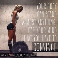 Put your mind to work, get up and get active this morning!