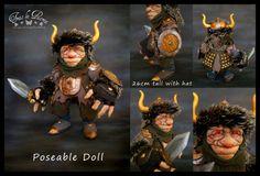 Goblin 5# .Mutz, the big circumstance. Fantasy Art doll. Ooak Art Doll One of a Kind Fantasy Sculpture
