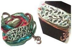 Fall Leaves Wrap Bracelet Yoga Free Ship by SunshineBlissStudio, $15.00