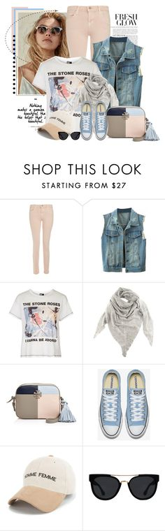 """""""Sem título #2543"""" by bellerodrigues ❤ liked on Polyvore featuring J Brand, WithChic, Topshop, Black, Tory Burch and Quay"""