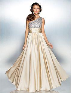 Vestido de Formatura Longo de Cetim  (Um Ombro só) – BRL R$ 307,77
