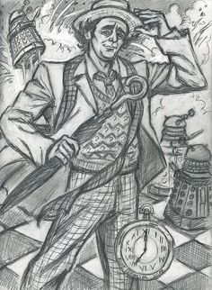 Seventh Doctor (rough prep sketch) by rainesz.deviantart.com on @deviantART