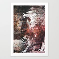 The king and the little prince. Art Print by Daniel Vasilescu - $15.60