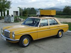I have to admit- I LOVE the vintage yellow!  Mercedes Benz W115 240 D
