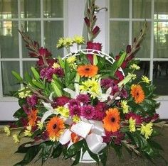 SYMPATHY A Colorful LIfe Statesboro Funeral Basket from Colonial House of Flowers