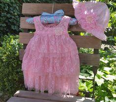 Baby Jurk en Baby Hoed Pink Diva-baby jurk-baby door TheBabyRose