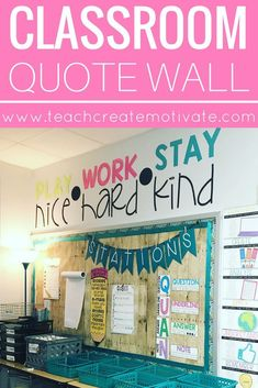 Use this giant classroom quote to portray your classroom's rules and values all year! Classroom Quotes, Classroom Bulletin Boards, Classroom Setup, Future Classroom, School Classroom, Classroom Design, Classroom Management Techniques, Classroom Management Plan, Classroom Organisation