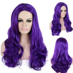 Wholesale cheap front wig online, 285G   - Find best  Free Shipping Cheap 60cm Heat Resistant Long Purple Synthetic Afro Kinky Curly Lace Front Wig at discount prices from Chinese Cosplay Wigs supplier - animelover on DHgate.com.