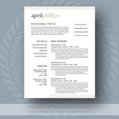 Resume Template For Ms Word  Resume Templates Resume And Templates