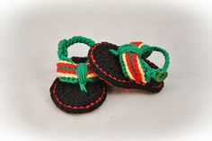 Ravelry: Bob Marley Sporty Flip Flop Baby Sandals for Boys and Girls pattern by Lorin Jean