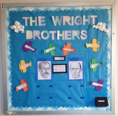 The Wright Brothers Interactive Bulletin Board Social Studies Projects, Wright Brothers, 5th Grade Science, 5th Grades, Adhd, Bulletin Boards, Language Arts, Homeschool, Projects To Try