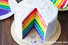 30 Sweet and Savory Rainbow Foods for St. Patrick's Day - Four Generations One Roof Rainbow Food, Rainbow Sprinkles, Pudding Frosting, Rodjendanske Torte, Birthday Cake Pictures, Birthday Cakes, Lemon Bundt Cake, Tres Leches Cake, Rainbow Birthday