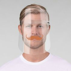 Handlebar Red Mustache Face Shield   redhead balayage, redhead girls, sassy redhead #redheadsrule #redheadsaresexy #redheadunite, 4th of july party Redhead Quotes, Eye Frames, Plastic Animals, Rubbing Alcohol, Health And Safety, Moustache, White Ink, Mild Soap, Perfect Match