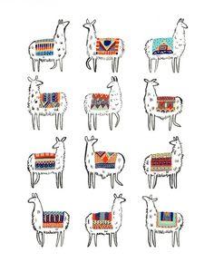 Llamarama Print by CactusClub on Etsy, $20.00