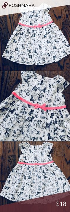 Playful Carters Dress!!!! Cute dog printed dress, perfect for that fun happy little girl. Great Condition Carter's Dresses Casual