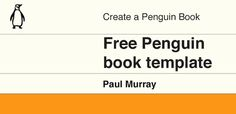 Free Penguin book template for Adobe Photoshop and Illustrator