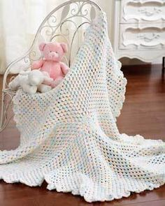 Marshmallow Baby Blanket | AllFreeCrochetAfghanPatterns.com
