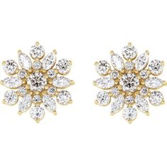 These vintage glam diamond stud earrings are a showstopper! This glamorous take on a diamond stud-style earring features carats of beautifully cut round brilliant and marquise shaped diamonds. Diamond Studs, Diamond Earrings, Stud Earrings, Bracelet Size Chart, Vintage Glam, Vintage Inspired, Or Rose, Rose Gold, Vintage Diamond