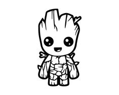 Baby Groot Guardians of the Galaxy Decal (Choose Size and Color) 135 Spongebob Outline, Spongebob Spongebob, Cute Disney, Disney Art, Baby Groot Tattoo, Cajas Silhouette Cameo, Baby Groot Drawing, Groot Guardians, I Am Groot