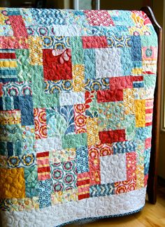 salt air by moda; it's funny, but I was looking at print samples of these online, and tho' I didn't care for them THERE, they are wonderful in this quilt!