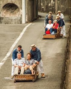 Wicker Toboggan Sled ride, Monte to Funchal, Madeira. Brought to you by Casa do Miradouro and MadeiraCasa   www.casadomiradouro.com www.madeiracasa.com