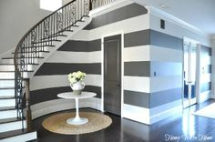 Honey We're Home: Curved Stripes Under the Stairs Hallway Decorating, Interior Decorating, Interior Design, Interior Door, Modern Interior, Decorating Ideas, Minimalist Interior, Decor Ideas, Accessible Beige