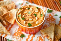 Roasted Red Pepper Hummus - The Crepes of Wrath