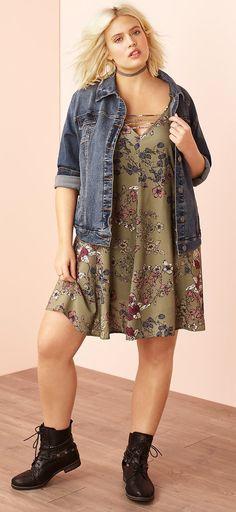 Plus Size Dress - Plus Size Fashion for Women #plussize #Plussizeclothesforfallcurvywomen