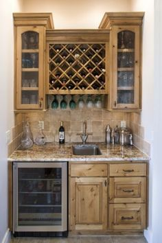 wet bar size looks about right.  Would definitely want wine storage was well as glass storage
