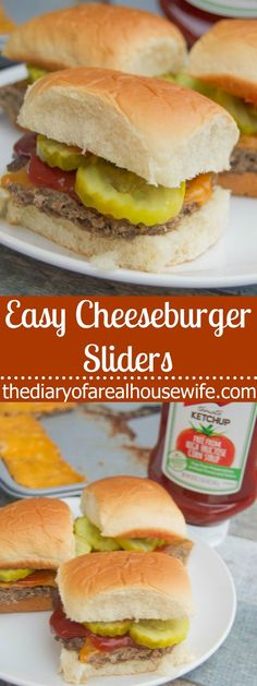 These Easy Cheeseburger Sliders are the perfect food for the big game. So easy to make and a recipe that all my guest LOVED! Cheeseburger Sliders, Beef Sliders, Mini Hamburger Sliders, Easy Dinner Recipes, Easy Recipes, Dinner Ideas, Lunch Recipes, Meal Ideas, Holiday Recipes