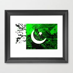 circuit board pakistan (flag) Framed Art Print by seb mcnulty - $32.00