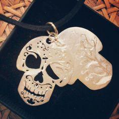 Mexican skull #handmadejewelry #originaldesign by LaTela di Aracne