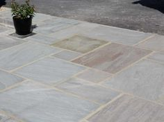 Dove Grey Sandstone Patio Paving - calibrated
