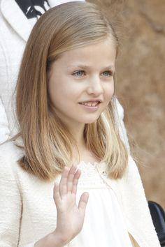 Leonor, Princess of Asturias. Spanish Royals Attend Easter Mass in Palma de Mallorca on April 5, 2015