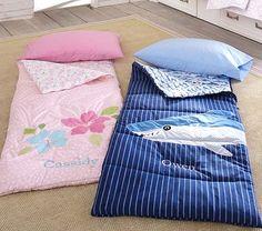 Need three of the girl sleeping bags!    Shark & Hibiscus Sleeping Bag #PotteryBarnKids