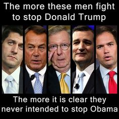 Shame on all of them. They think THEY own the party. They've forgotten the purpose of the party is to do the will of it's constituents...NOT the other way around. SHAME ON THEM! They should NOT be re-elected unless they support the candidate that the PEOPLE elected.