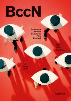 Poster for BccN 2016 Barcelona Creative Commons Film Festival — Javier Jaen Creative Poster Design, Creative Posters, Graphic Design Posters, Graphic Design Typography, Graphic Design Inspiration, Graphisches Design, Buch Design, Layout Design, Flyer Design