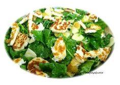 Σαλάτα Σπανάκι Με Μήλο,Σως Μελιού Και Χαλούμι! ~ Χριστίνας ...Μαγειρέματα! Salad Bar, Feta, Zucchini, Salads, Food And Drink, Cheese, Vegetables, Cooking, Recipes