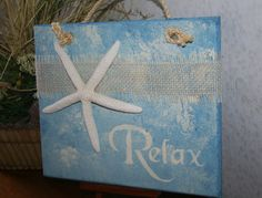 RELAX Beach Sign Relax Sign Starfish Decor di NaturesGlow