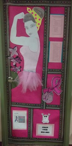 breast cancer awareness door contest - Breast Cancer Decorations